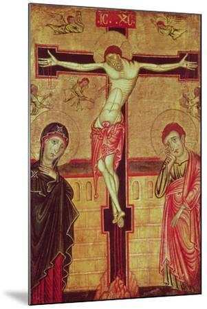 Christ on the Cross, with the Virgin Mary, St. John the Evangelist and Five Angels--Mounted Giclee Print