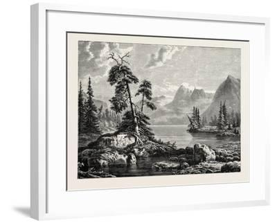 A View on the Hardanger Fjord--Framed Giclee Print
