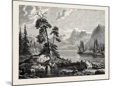 A View on the Hardanger Fjord--Mounted Giclee Print