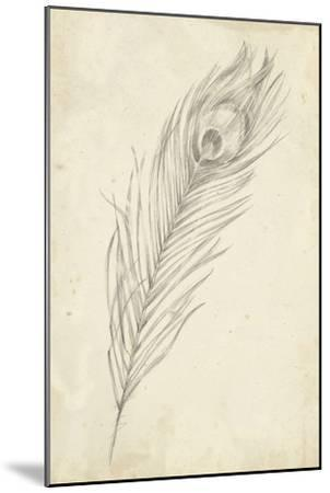 Peacock Feather Sketch II-Ethan Harper-Mounted Art Print