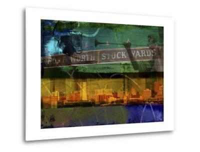 Ft. Worth Collage-Sisa Jasper-Metal Print