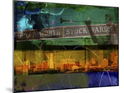Ft. Worth Collage-Sisa Jasper-Mounted Art Print