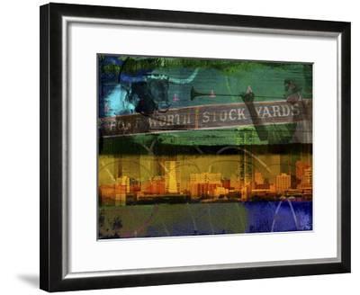 Ft. Worth Collage-Sisa Jasper-Framed Art Print