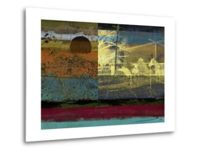 Horse and Hay Collage-Sisa Jasper-Metal Print