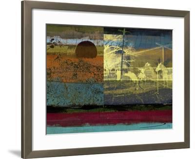 Horse and Hay Collage-Sisa Jasper-Framed Art Print