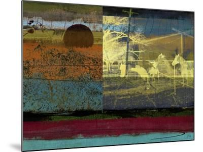 Horse and Hay Collage-Sisa Jasper-Mounted Art Print