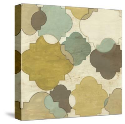 Quatrefoil Overlay I-June Erica Vess-Stretched Canvas Print