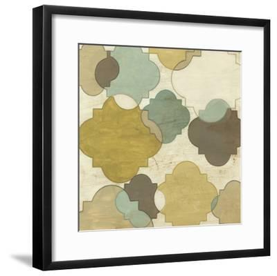 Quatrefoil Overlay I-June Erica Vess-Framed Art Print