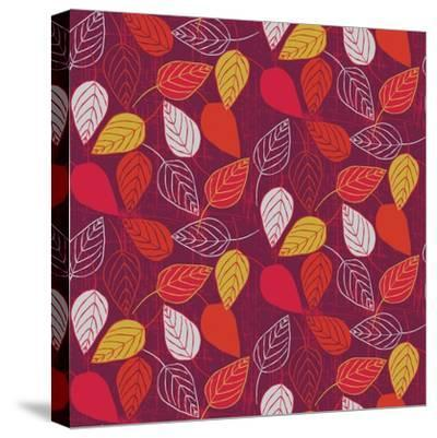 Red Fall VII-Ali Benyon-Stretched Canvas Print