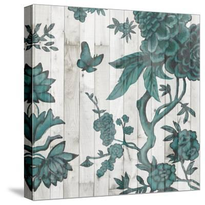 Terra Verde Chinoiserie I-Naomi McCavitt-Stretched Canvas Print