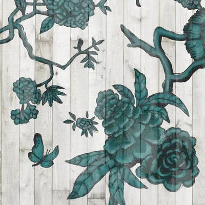 Terra Verde Chinoiserie III-Naomi McCavitt-Stretched Canvas Print