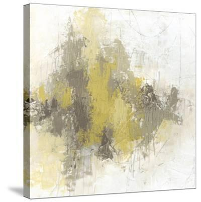 Saffron Abstract II-June Vess-Stretched Canvas Print