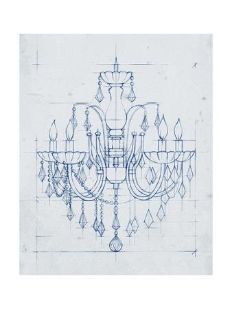 Chandelier Draft I-Ethan Harper-Framed Art Print