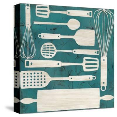 Kitchen Kitsch IV-June Erica Vess-Stretched Canvas Print