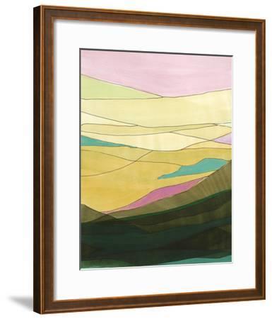 Pink Hills I-Jodi Fuchs-Framed Art Print