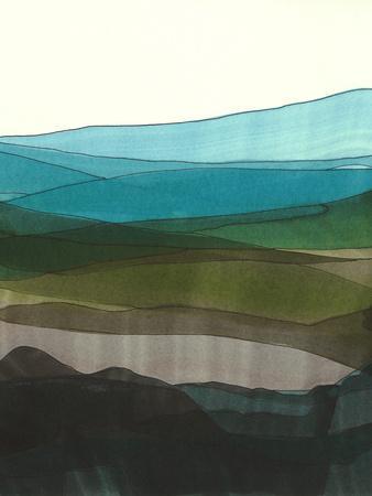 Blue Hills I-Jodi Fuchs-Framed Art Print