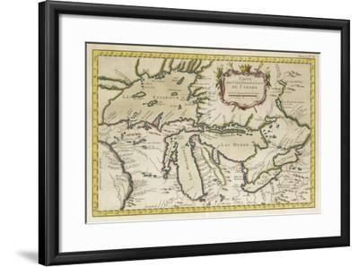 Map of the Great Lakes--Framed Art Print