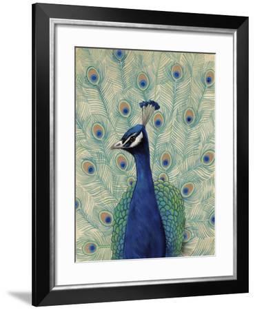 Blue Peacock II--Framed Art Print