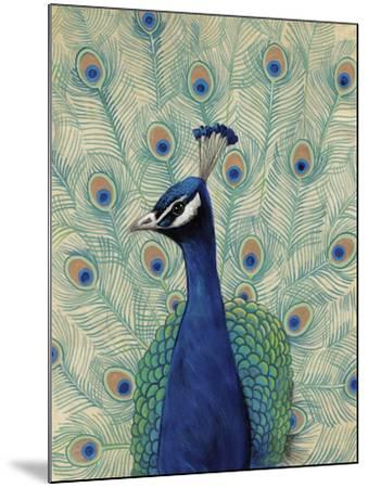 Blue Peacock II--Mounted Art Print