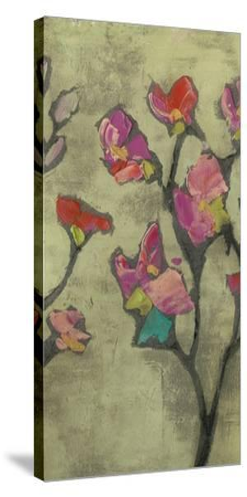 Impasto Flowers II-Jennifer Goldberger-Stretched Canvas Print