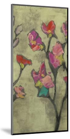 Impasto Flowers II-Jennifer Goldberger-Mounted Art Print