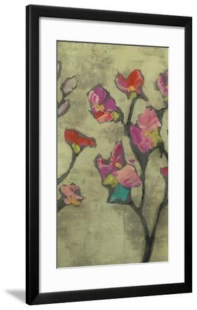 Impasto Flowers II-Jennifer Goldberger-Framed Art Print