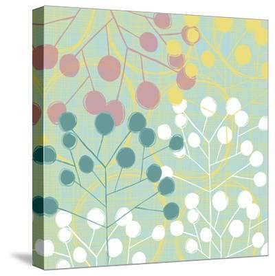 Popping Flowers II-Ali Benyon-Stretched Canvas Print