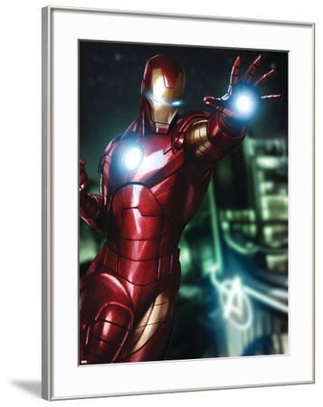Avengers Assemble Artwork Featuring Iron Man--Framed Poster