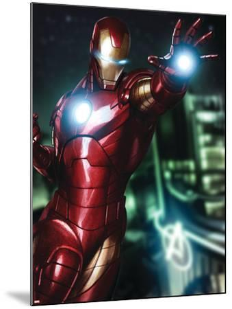 Avengers Assemble Artwork Featuring Iron Man--Mounted Poster