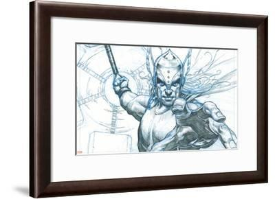Avengers Assemble Pencils Featuring Thor--Framed Poster
