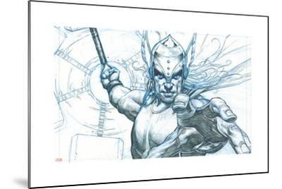 Avengers Assemble Pencils Featuring Thor--Mounted Poster