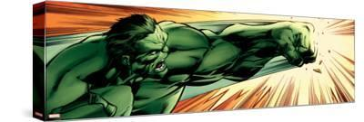 Avengers Assemble Panel Featuring Hulk--Stretched Canvas Print
