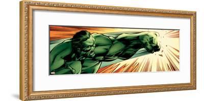 Avengers Assemble Panel Featuring Hulk--Framed Poster