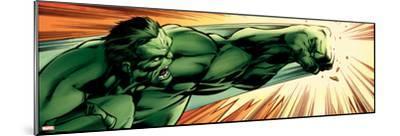 Avengers Assemble Panel Featuring Hulk--Mounted Poster