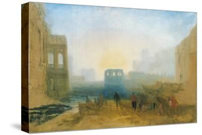 Claudian Harbour Scene: Study for 'Dido Directing the Equipment of the Fleet'-J^ M^ W^ Turner-Stretched Canvas Print