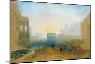 Claudian Harbour Scene: Study for 'Dido Directing the Equipment of the Fleet'-J^ M^ W^ Turner-Mounted Giclee Print