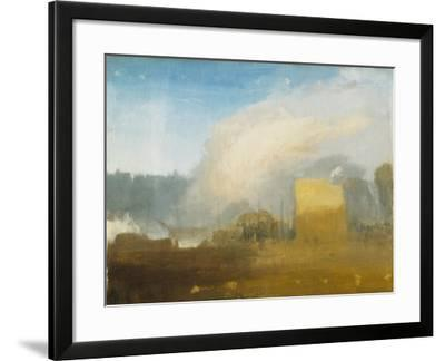 Rouen: the Left Bank, with Shipping Beyond-J^ M^ W^ Turner-Framed Giclee Print