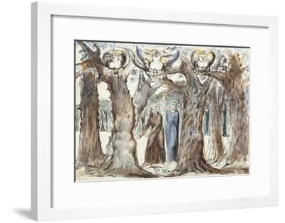 Illustrations to Dante's Divine Comedy, the Wood of the Self-Murderers-William Blake-Framed Giclee Print