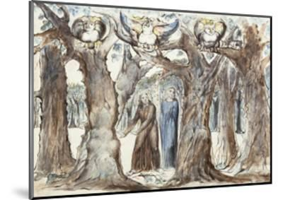 Illustrations to Dante's Divine Comedy, the Wood of the Self-Murderers-William Blake-Mounted Giclee Print