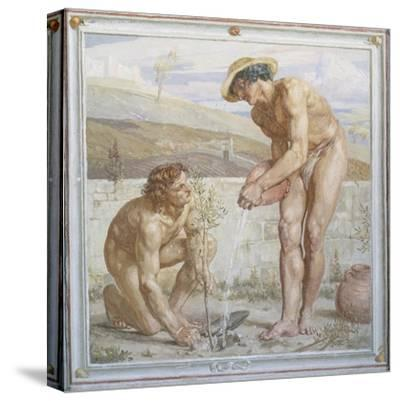 Paul and Apollos-Sir Edward Poynter-Stretched Canvas Print