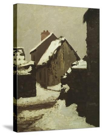 Houses in Snow-Robert Alan Mowbray Stevenson-Stretched Canvas Print