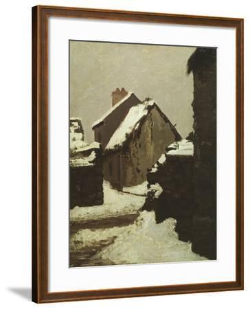 Houses in Snow-Robert Alan Mowbray Stevenson-Framed Giclee Print
