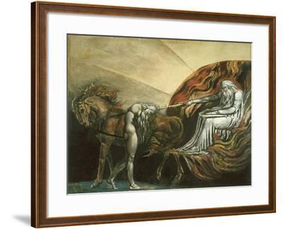 God Judging Adam-William Blake-Framed Giclee Print