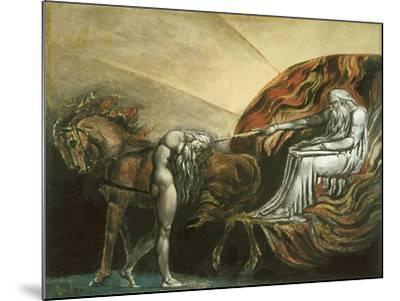 God Judging Adam-William Blake-Mounted Giclee Print