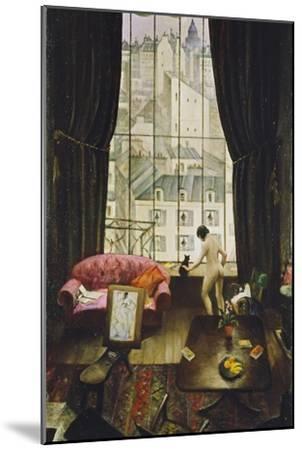 A Studio in Montparnasse-Christopher Richard Wynne Nevinson-Mounted Giclee Print