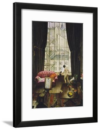 A Studio in Montparnasse-Christopher Richard Wynne Nevinson-Framed Giclee Print