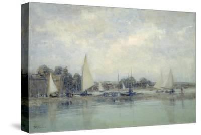 High Tide, Blakeney-Sir Walter Russell-Stretched Canvas Print
