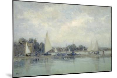 High Tide, Blakeney-Sir Walter Russell-Mounted Giclee Print