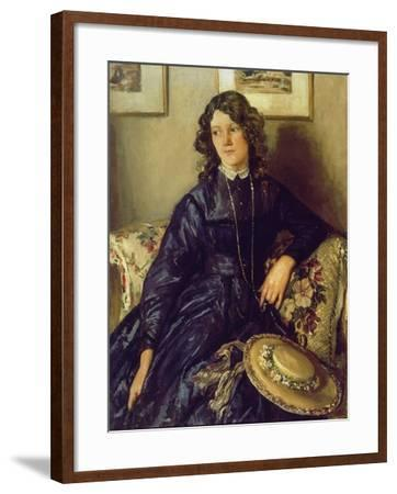 The Blue Dress-Sir Walter Russell-Framed Giclee Print