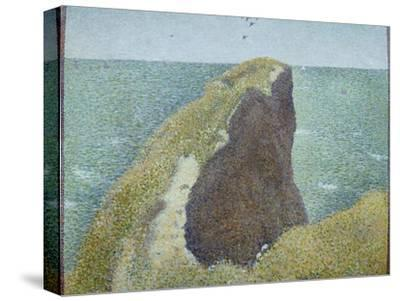Le Bec Du Hoc, Grandcamp-Georges Seurat-Stretched Canvas Print